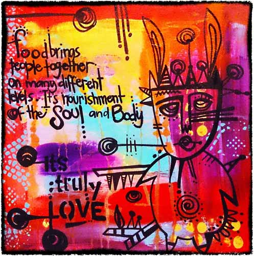 Acrylic and Ink on canvas sold